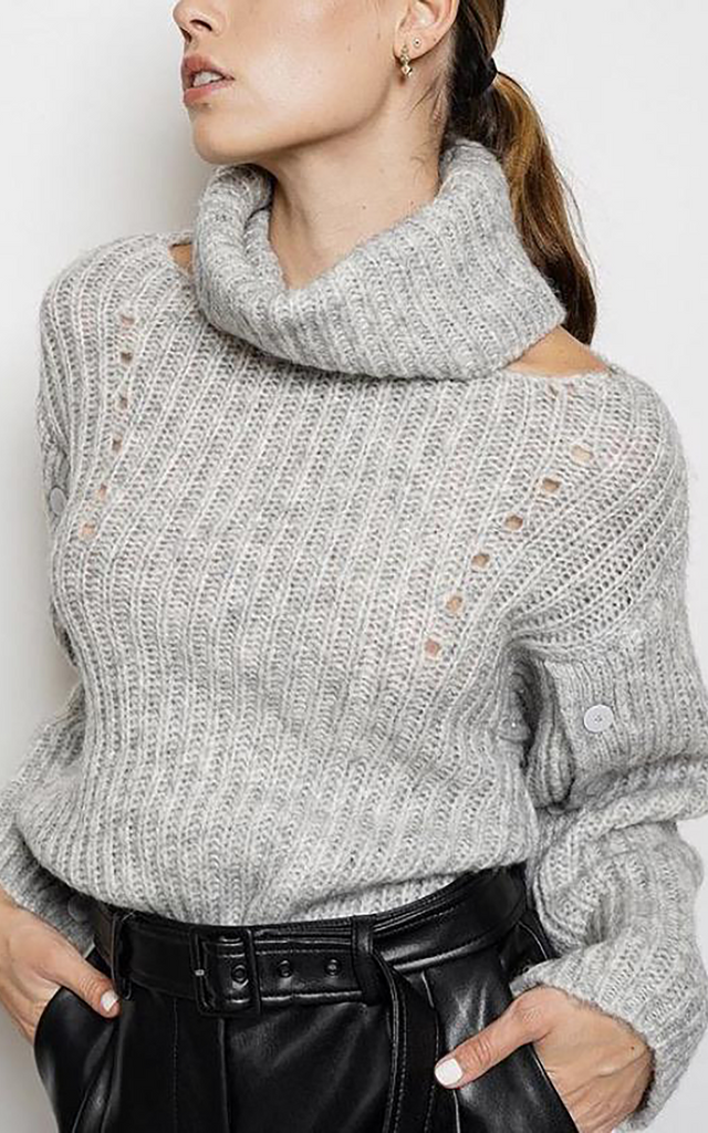 Eliana Lofty Alpaca Sweater Fog