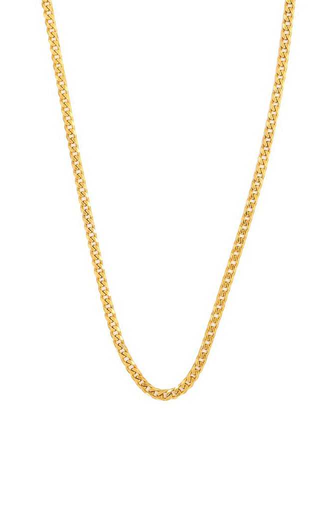 Anchor Chain Gold Plated Silver