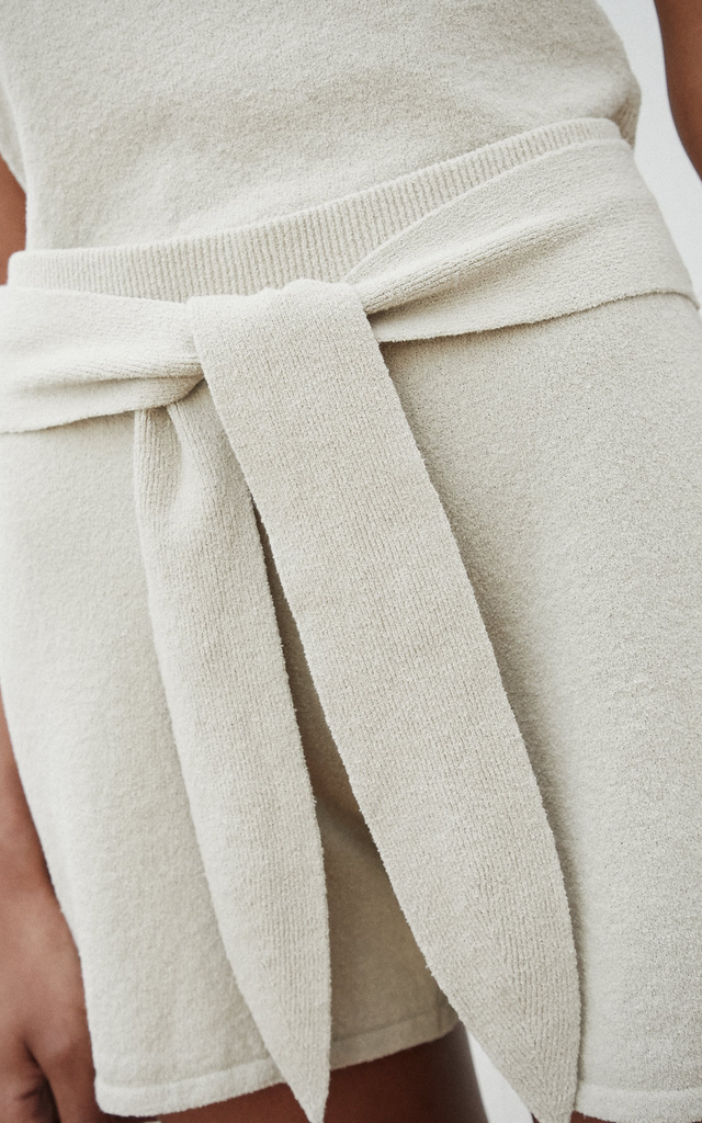 Jiji terry knit sand shorts