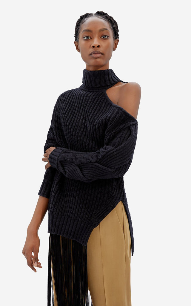 Aubrey Cable Sweater Black