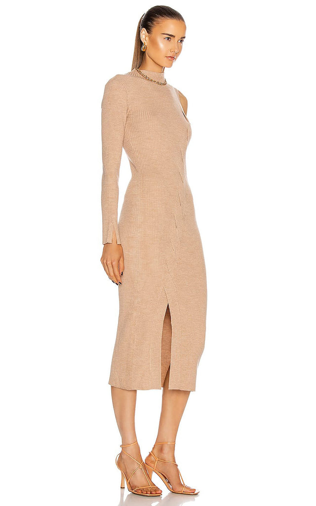 Aurora Ripped Dress Camel