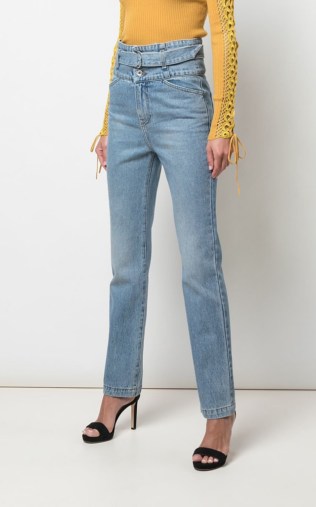 Belted High Waisted Jeans