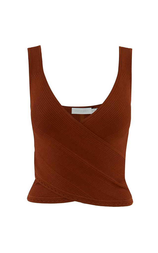 Jada Wrap Top Toffee