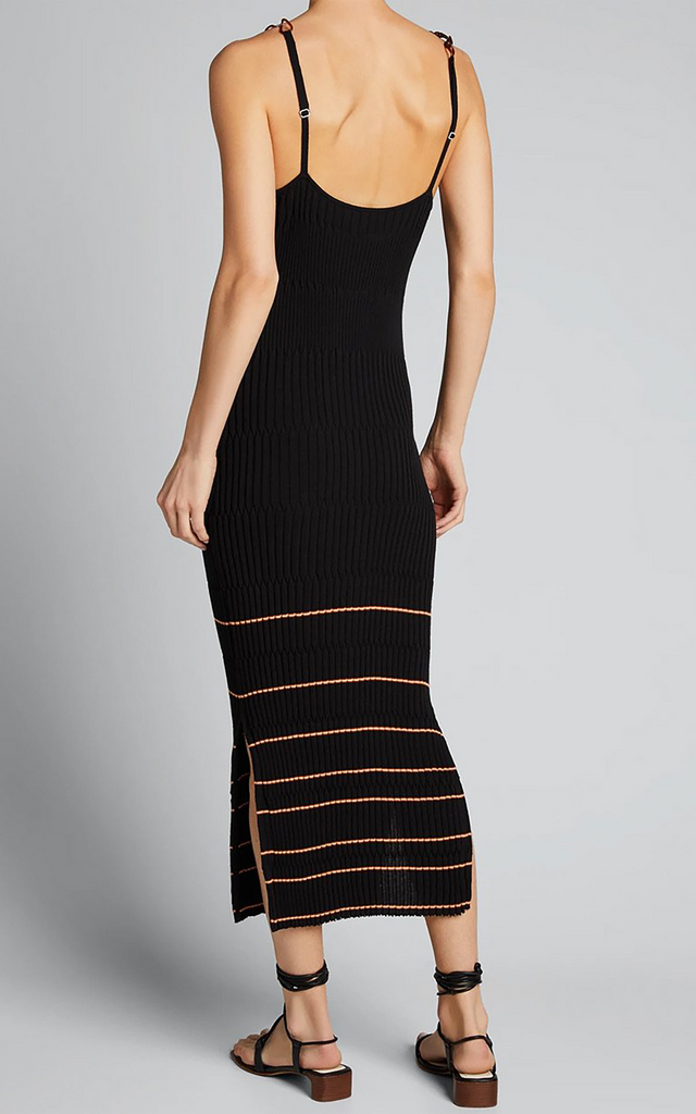 Lydia Apron Ribbed Knit Midi Dress
