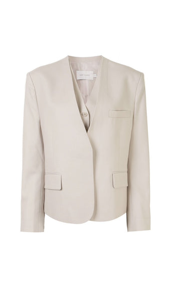 2 Piece V-neck Blazer Beige