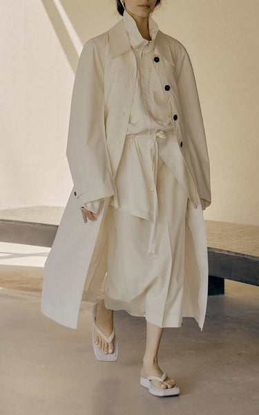 Belted Crepe De Chine Zip-Front Jacket Neutral
