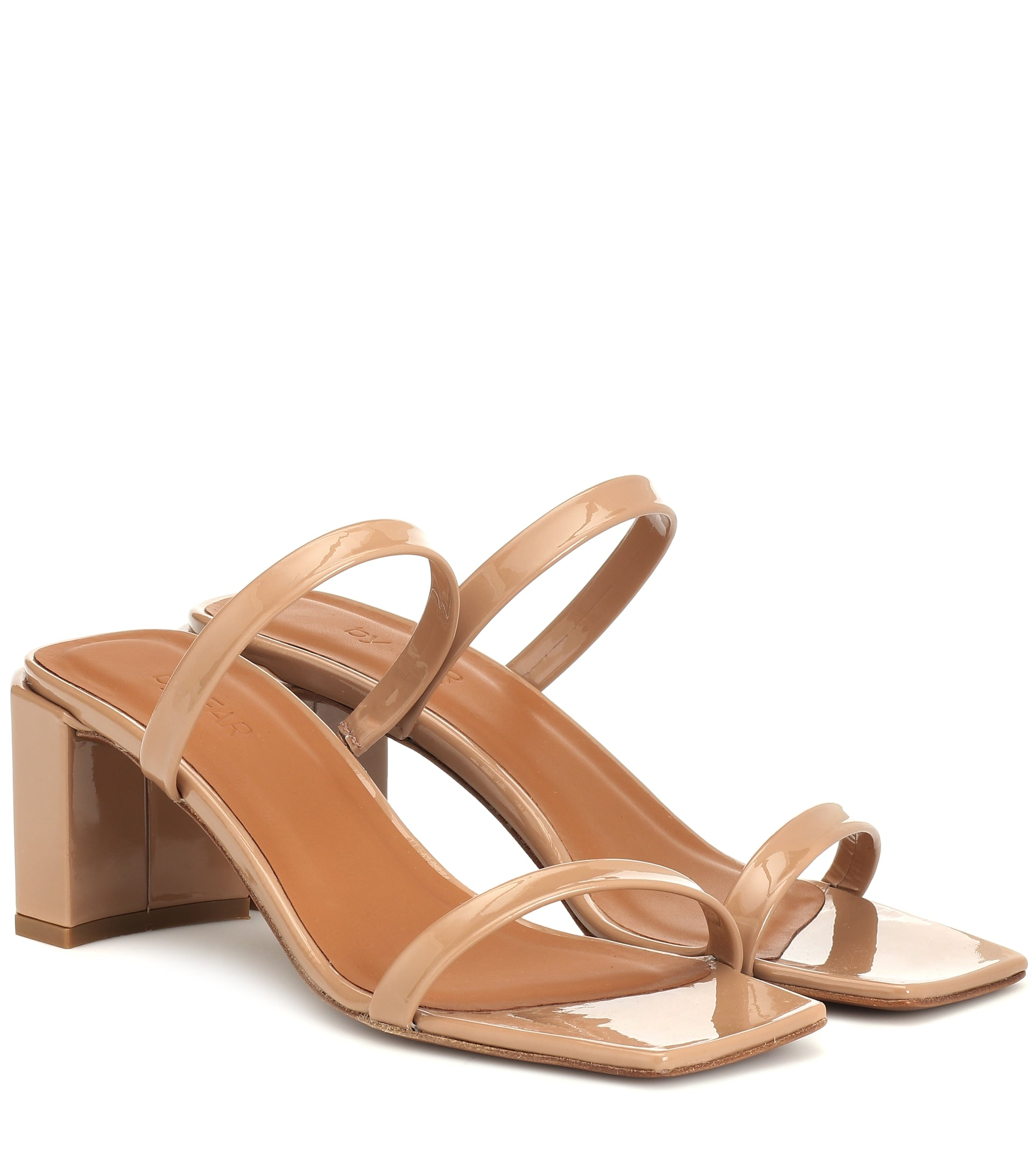 By Far Tanya nude leather sandals