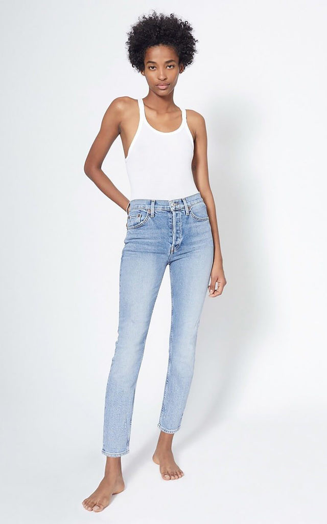 Comfort Stretch High Rise Ankle Crop Mid 90S