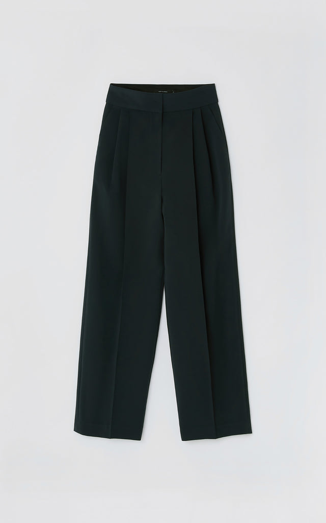 Pintuck Pants Blue Green