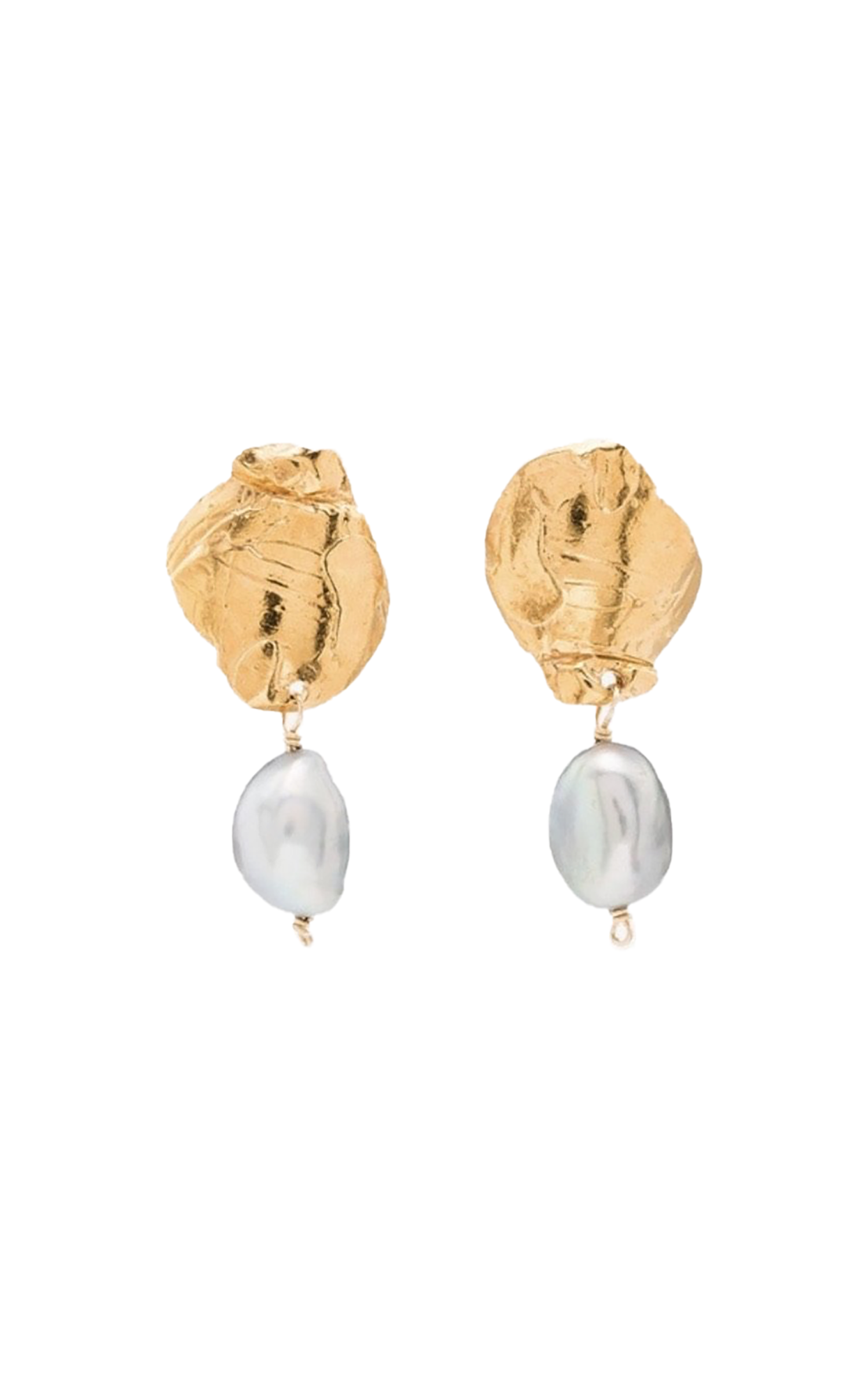 Alighieri Shadow and Pearl Earrings