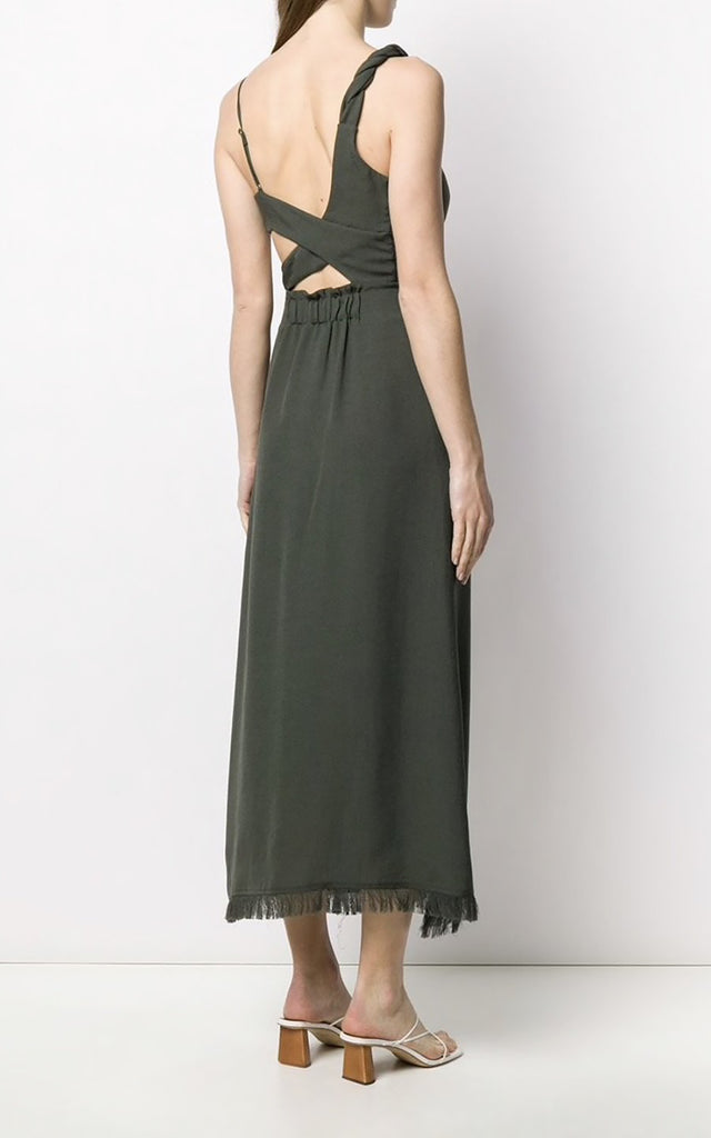 Sloan Flowy Dress Amazon Green