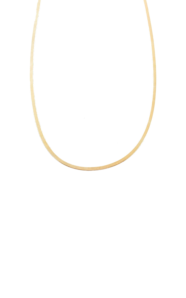 Herringbone Necklace 10k Gold