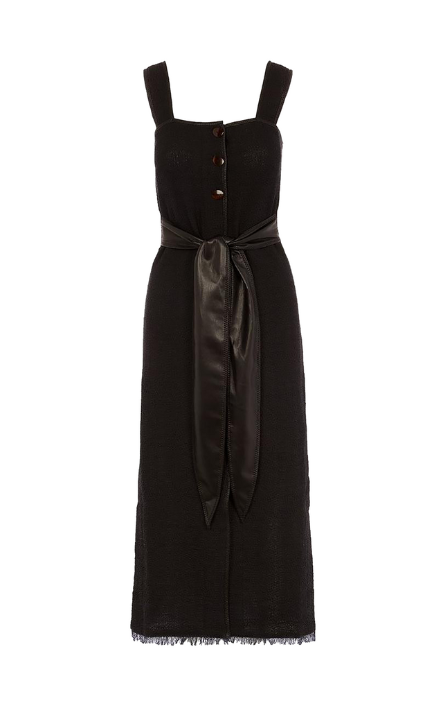 Rita Belted Dress Black