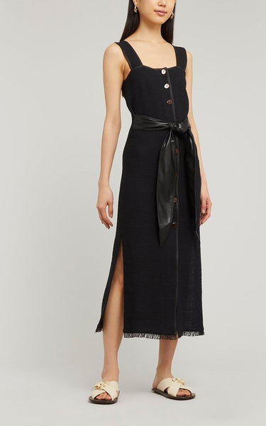 Nanushka Rita Belted Dress Black