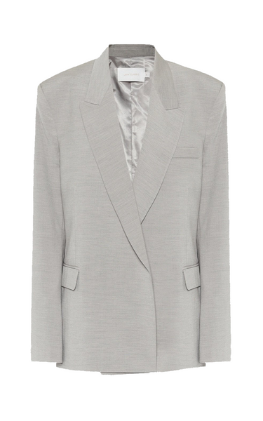 Double Breasted Oversized Blazer Grey