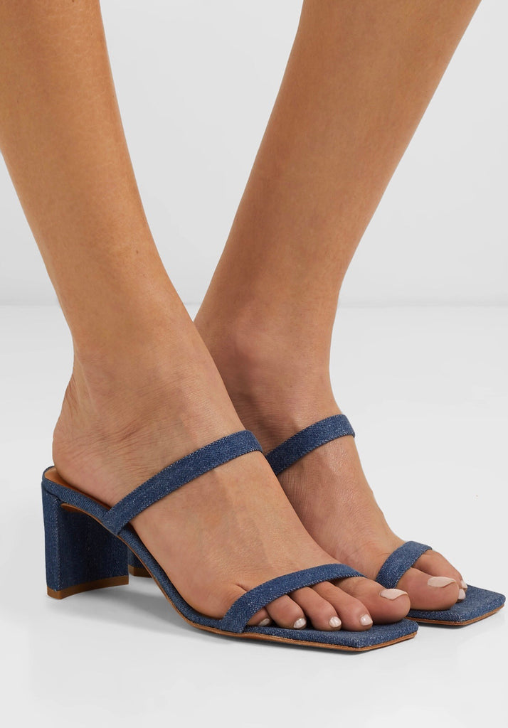 BY FAR Tanya Sandals Denim