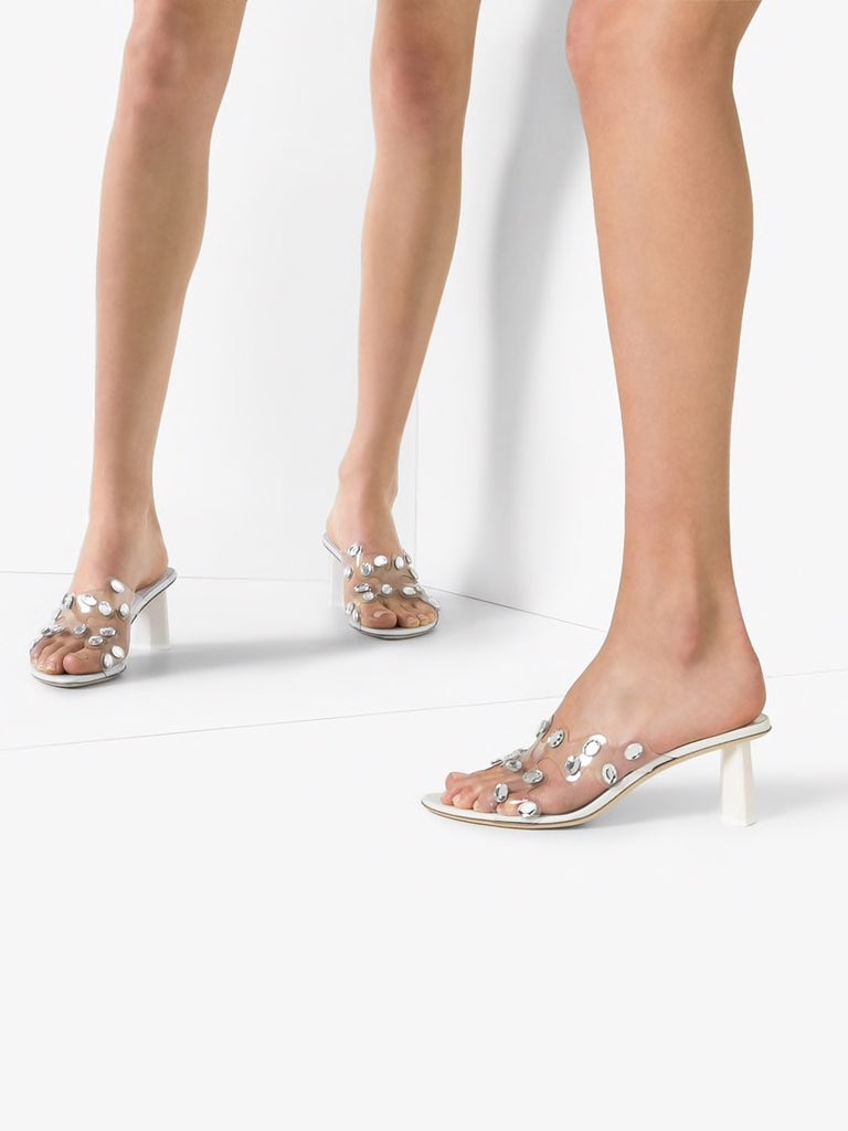 By Far Gorgeous crystal embellished sandals