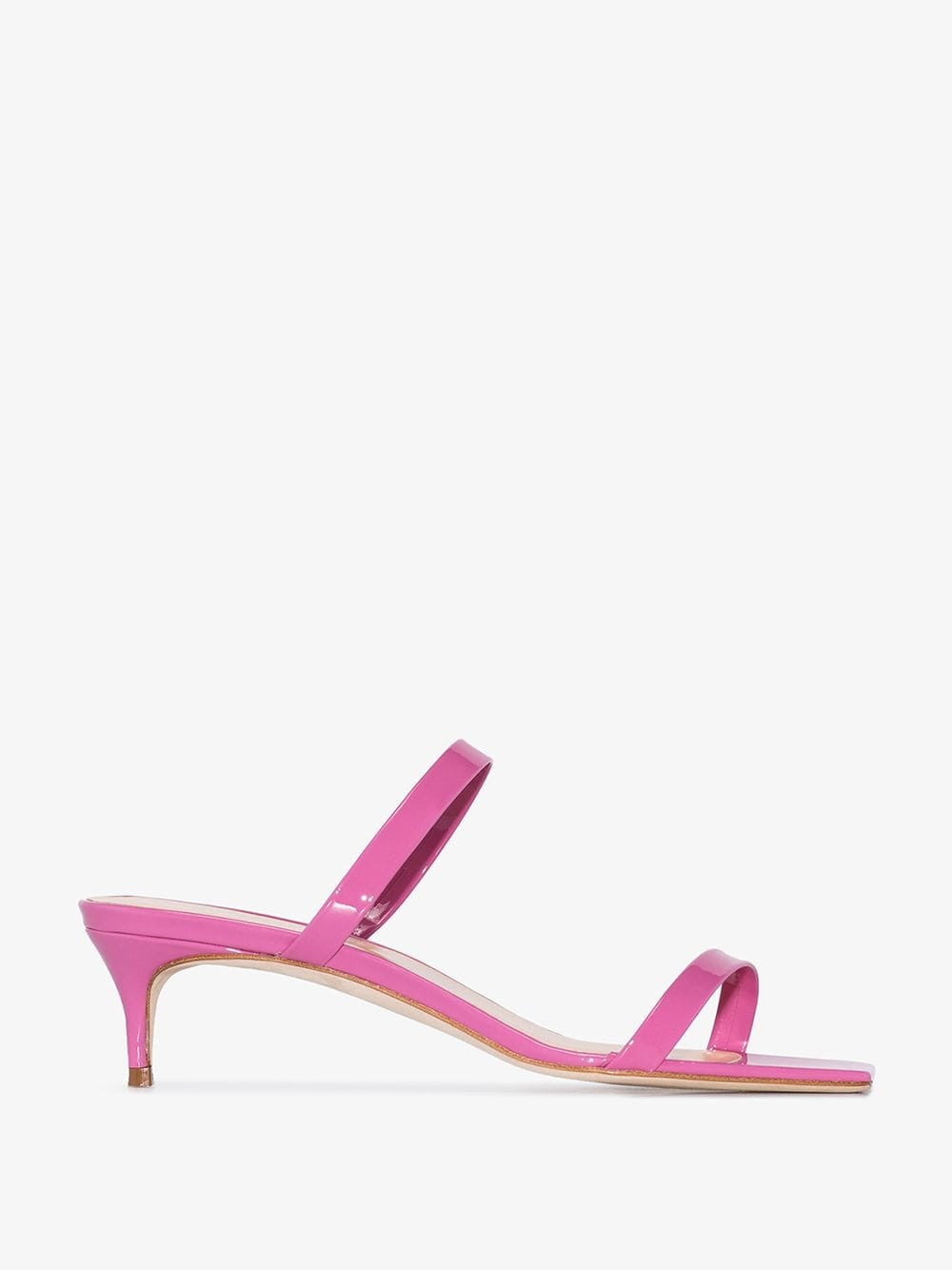 By far thalia pink leather sandals