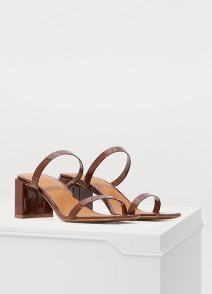 By Far Tanya brown leather sandals