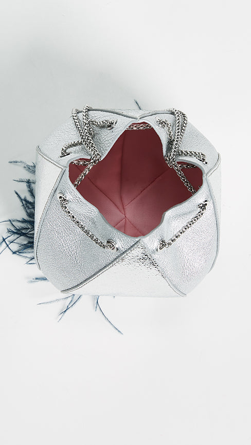 Cindy Feather Bag Silver