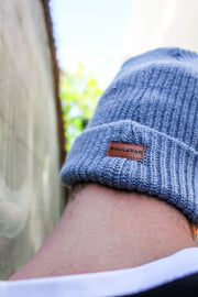 Cotton Knit Beanie - Blue