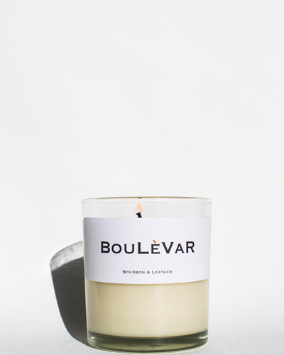 Bourbon and Leather Scented Candle