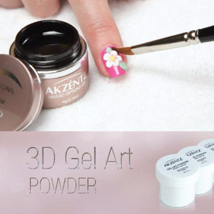 Akzentz 3D Gel Art Powder & Tray