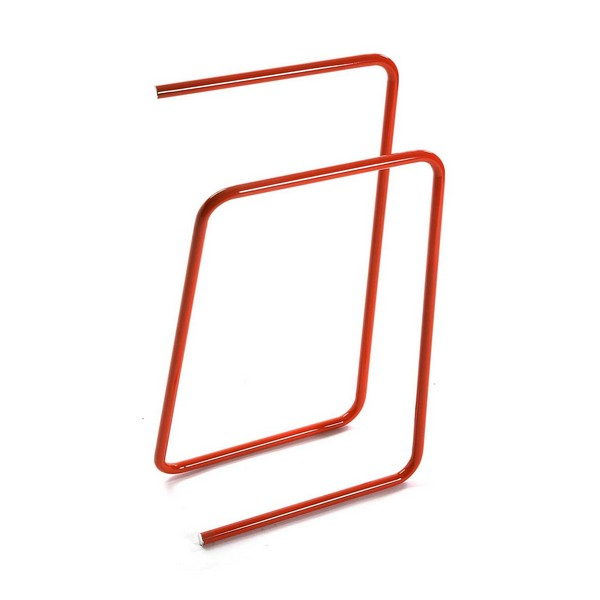 Free-Standing Towel Rack Orange Metal