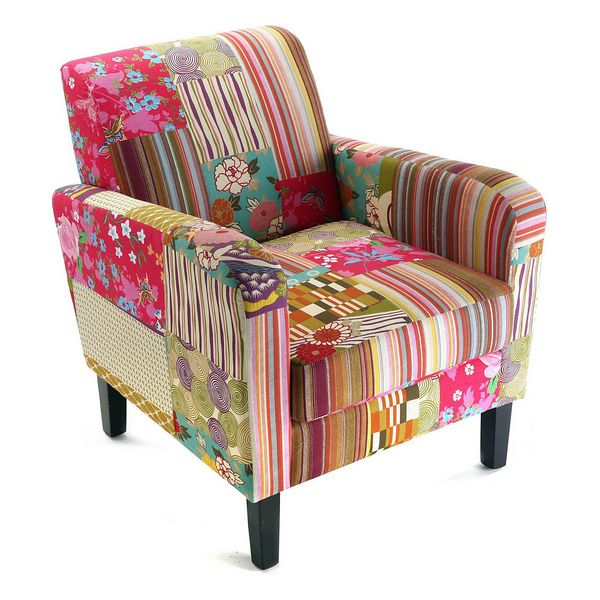 Armchair Patchwork  Cotton (77 X 71 x 65 cm)