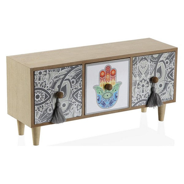 Jewelry box Hamsa Wood 3 drawers
