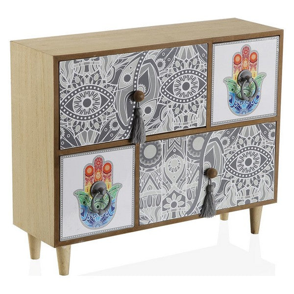 Jewelry box Hamsa Wood 4 drawers