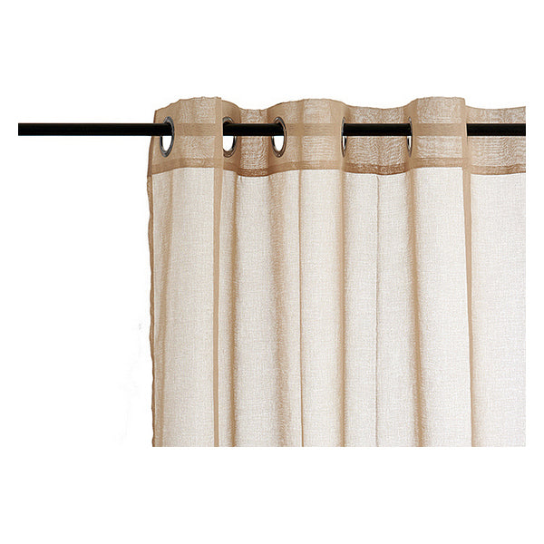 Curtains Beige Polyester (260 x 140 cm)