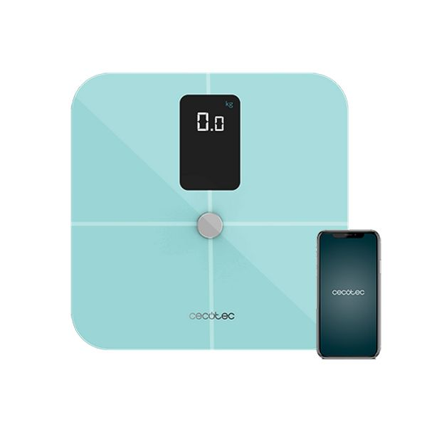 Digital Bathroom Scales Cecotec Surface Precision 10400 Smart Healthy Vision Blue