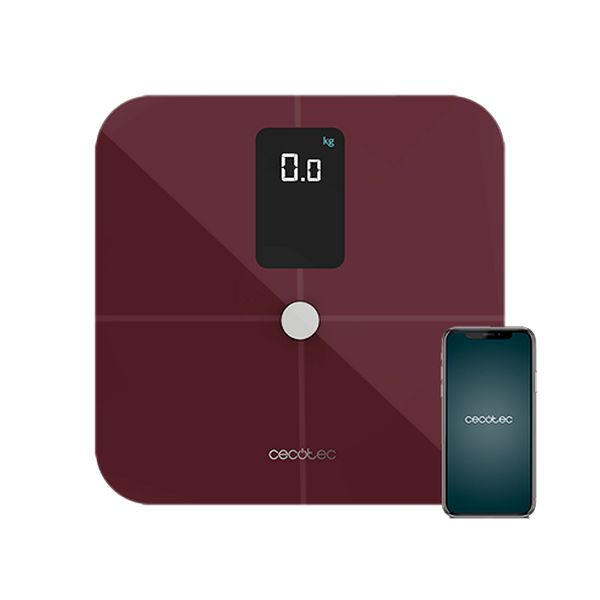 Digital Bathroom Scales Cecotec Surface Precision 10400 Smart Healthy Vision Maroon