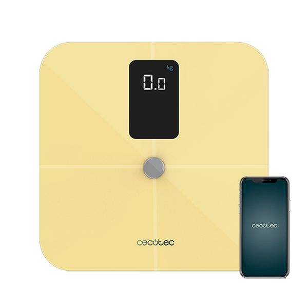 Digital Bathroom Scales Cecotec Surface Precision 10400 Smart Healthy Vision Yellow