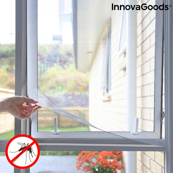 Cuttable Anti-mosquito Adhesive Window Screen White InnovaGoods