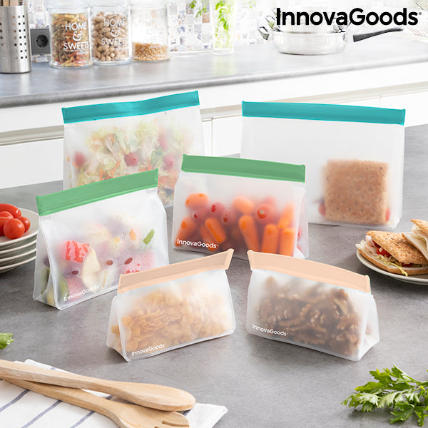 Set of Reusable Hermetically-sealed Bags Zags InnovaGoods 6 Pieces