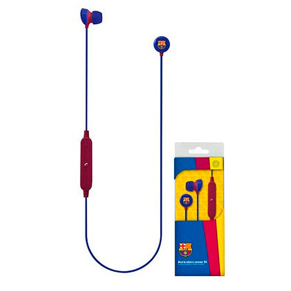 Bluetooth Sports Headset with Microphone F.C. Barcelona Blue