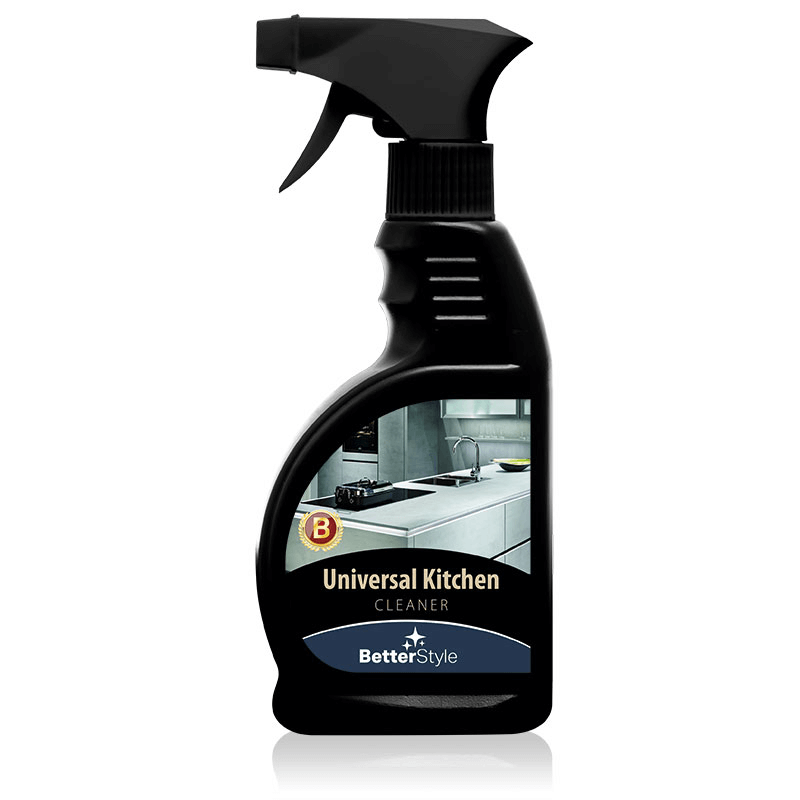 Universal Kitchen Cleaner,Effectively cleans kitchen surfaces: cookers, glass, sinks and worktops. Perfect for grease and dirt.  300ml
