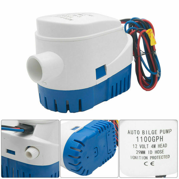 Automatic 12V 1100GBH Bilge Pump Water Pump Submersible Pump With Float Switch - poptopdeal