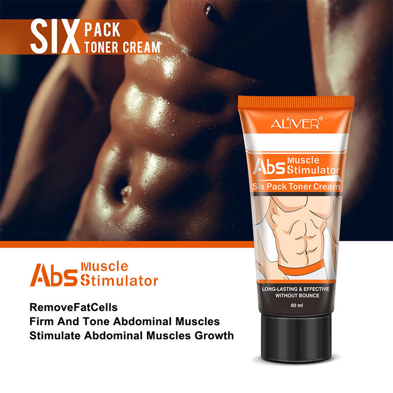 Six Pack Abs Stomach Muscle Toning Cream Gel Stimulates Abdominal Muscle Growth - poptopdeal