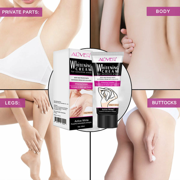 Aliver Skin Whitening Lightening Cream Face Body Private Parts Bleaching Cream - poptopdeal