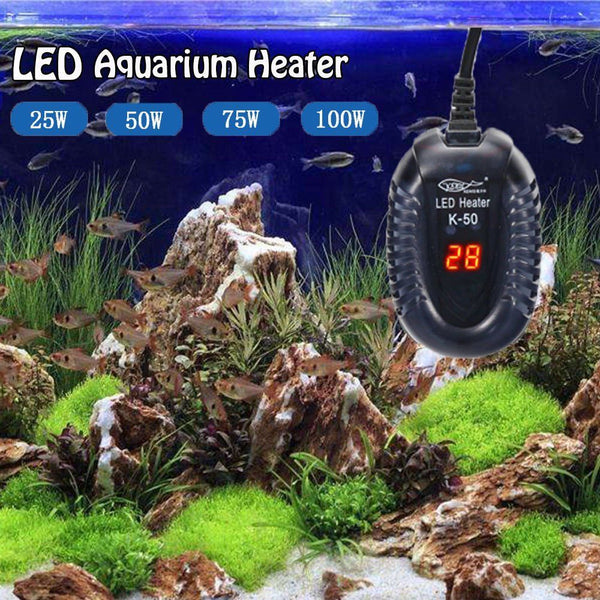 New Aquarium Fish Tank LED Digital Heater Submersible Thermostat US Plug - poptopdeal