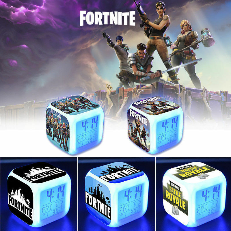 NEW FORTNITE Battle Royale color changing Alarm Clock Video Game Xmas gift UK - poptopdeal