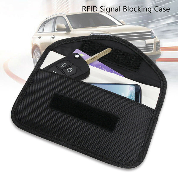 Bag Keyless RFID Safe Car Key Signal Blocker Case Fob Pouch Faraday Cage - poptopdeal