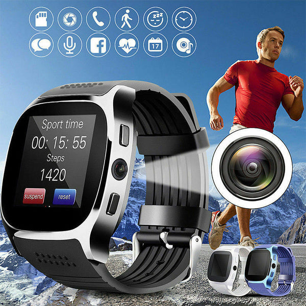 UK Smart Wrist Watch Bluetooth Waterproof GSM Phone For Android Samsung iPhone - poptopdeal