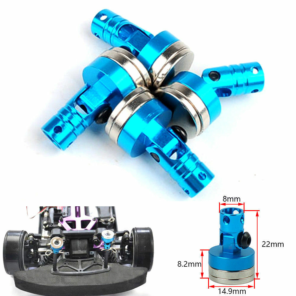 Magnetic Alloy Stealth Body Shell Post Mount HSP Upgraded Parts 1/10 RC Car Blue - poptopdeal