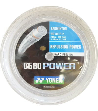 Yonex BG 80 Power Badminton String (BG80 Power) 200m reel