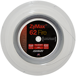 Ashaway Zymax 62 Fire 0.62mm (Ultimate Repulsion) 200m Badminton String Reel