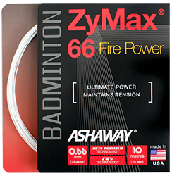 Ashaway Zymax 66 Fire Power 0.66mm (Ultimate Power) - Badminton String